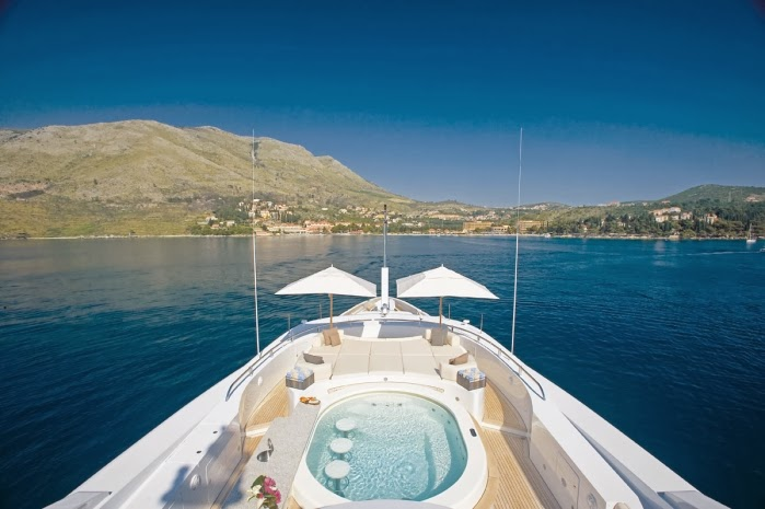 Super Jacuzzi on board of the fabulous Andreas L (60m) Super Yacht