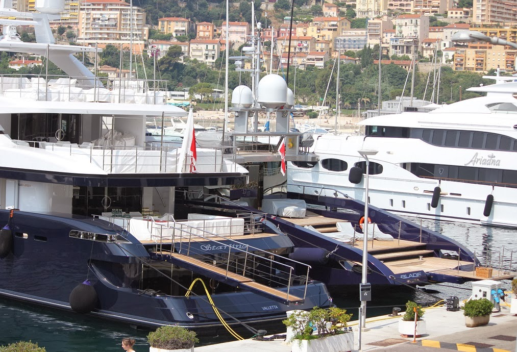 Super Yachts Blade, Adriana and Starling in Fontvielle, Monaco