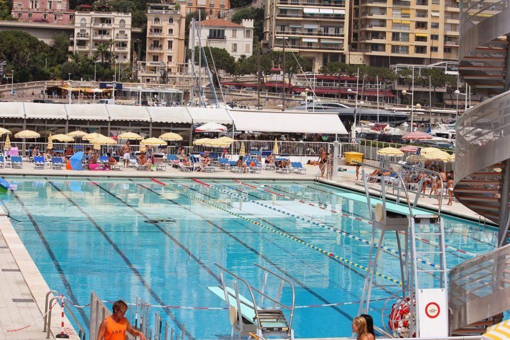 Monaco's luxurious swimming pool at Port Hercules