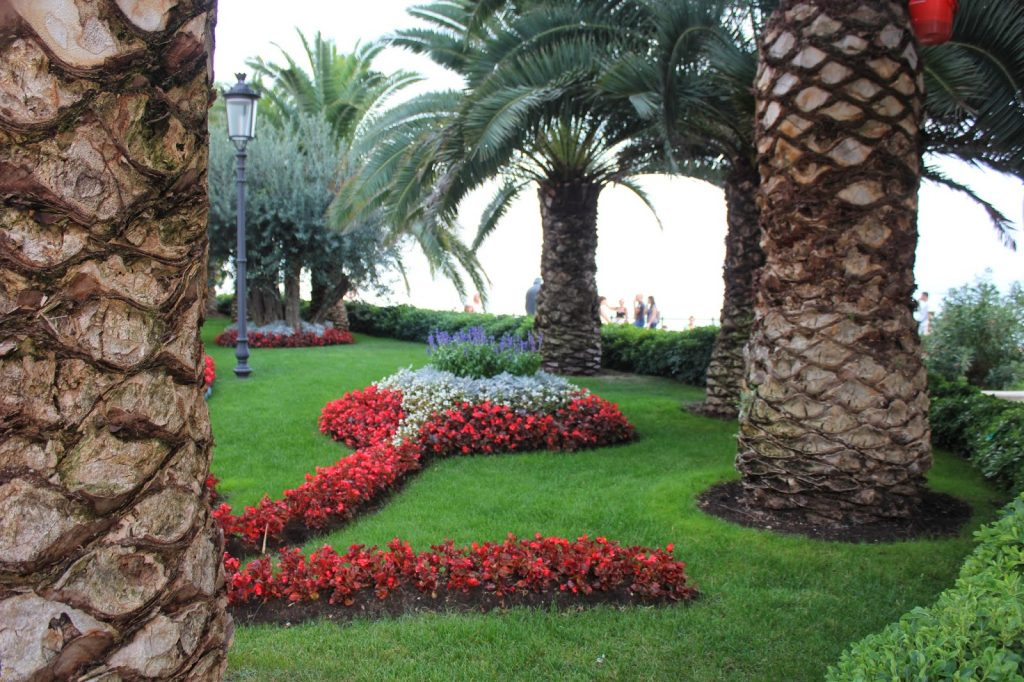 Tended garden in the Royal town of Opatija, North Adriatic