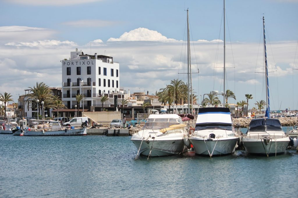 One of the modern marinas on the Island of Mallorca