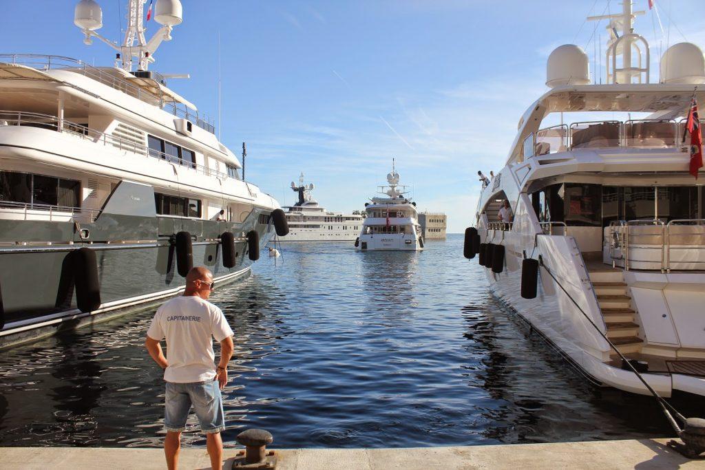 Monaco Capitenarie superyacht mooring