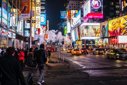 New York at night looks fabulous, especially at Times Square