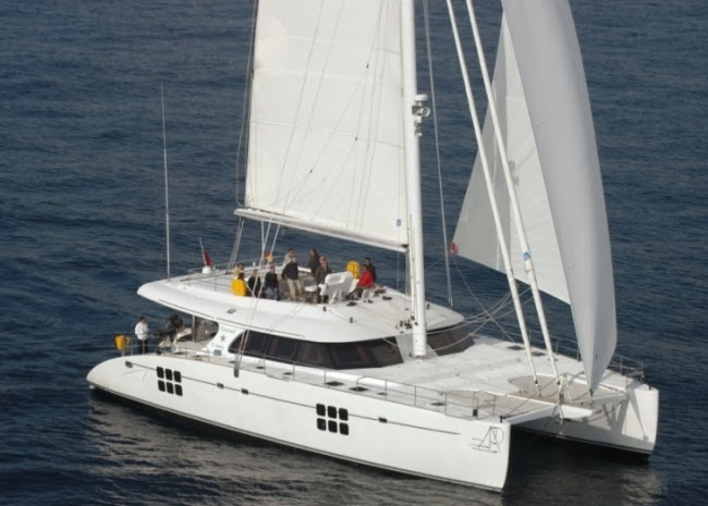 Sailing Catamarans are best suited for tandem charters with children