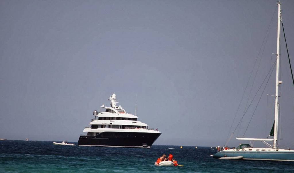Excellence, a fabulous 60m superyacht at Pampelonne Plage