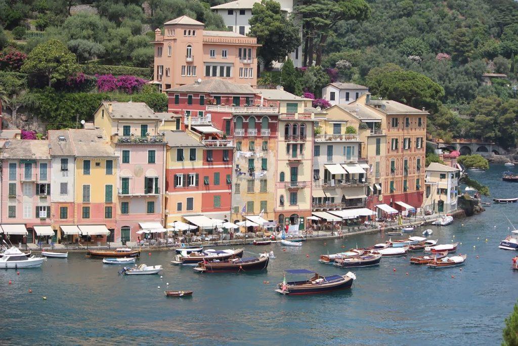 Picturesque billionaire's playground harbour of Portofino